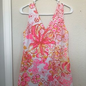 Lilly Pulitzer orange and pink floral dress